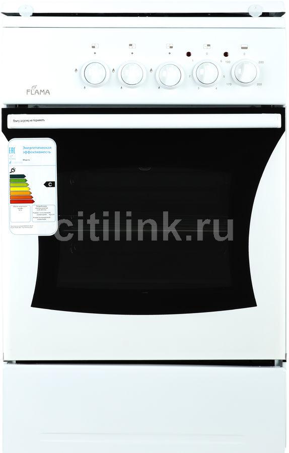 Газовая плита FLAMA RK 23-101 W,  электрическая духовка,  белый
