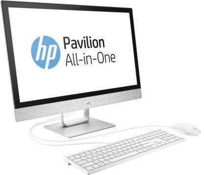 Моноблок HP Pavilion 24-r007ur, Intel Core i5 7400T, 8Гб, 1000Гб, 128Гб SSD,  AMD Radeon 530 - 2048 Мб, DVD-RW, Windows 10, белый [2mj05ea]
