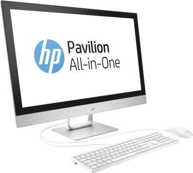 Моноблок HP Pavilion 27-r013ur, Intel Core i7 7700T, 8Гб, 1000Гб, AMD Radeon 530 - 2048 Мб, DVD-RW, Windows 10, белый [2mj73ea]
