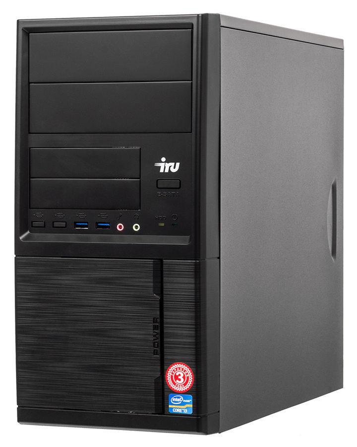 Компьютер  IRU Office 110,  Intel  Celeron  J3355,  DDR3 4Гб, 500Гб,  Intel HD Graphics 500,  Free DOS,  черный [1005576]