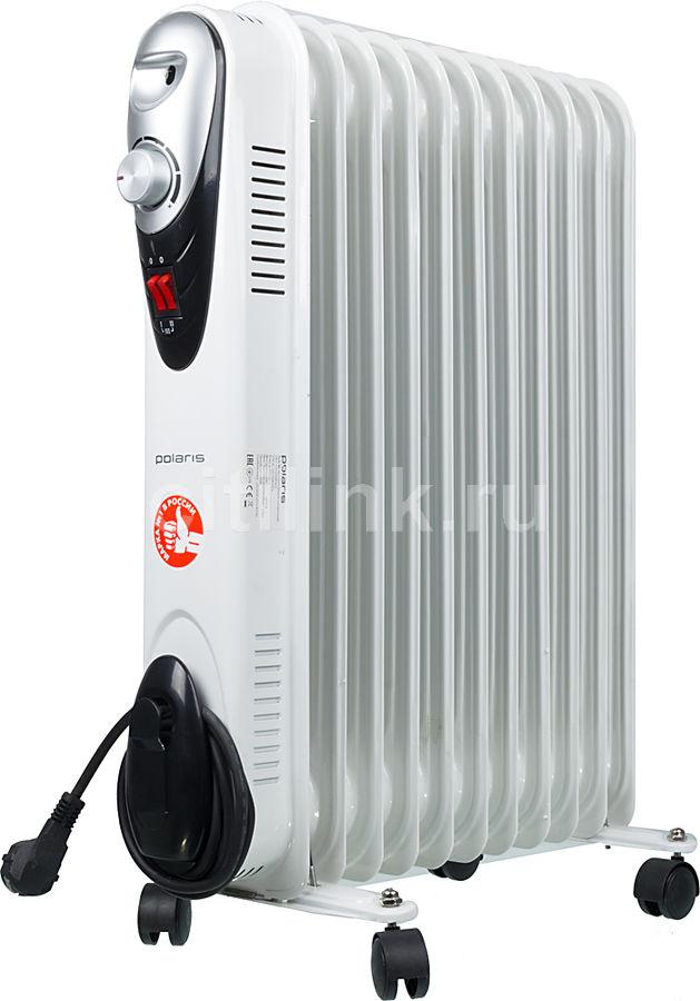 Масляный радиатор POLARIS Compact CR C 1125, 2500Вт, белый