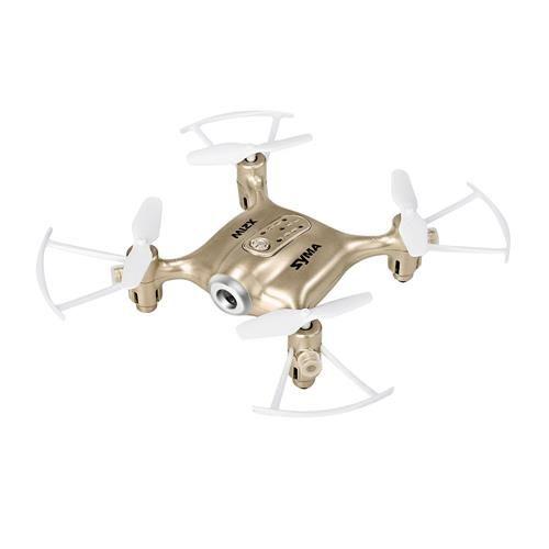 Квадрокоптер SYMA X21W с камерой,  золотистый [x21w gold]