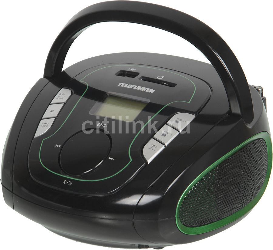 Аудиомагнитола TELEFUNKEN TF-SRP3471B,  черный