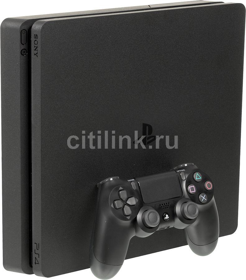 Игровая консоль SONY PlayStation 4 Slim с 500 ГБ памяти, играми: Driveclub, Horizon Zero Dawn, Ratchet & Clank и подпиской PlayStation Plus на 3 месяца,  CUH-2108A, черный