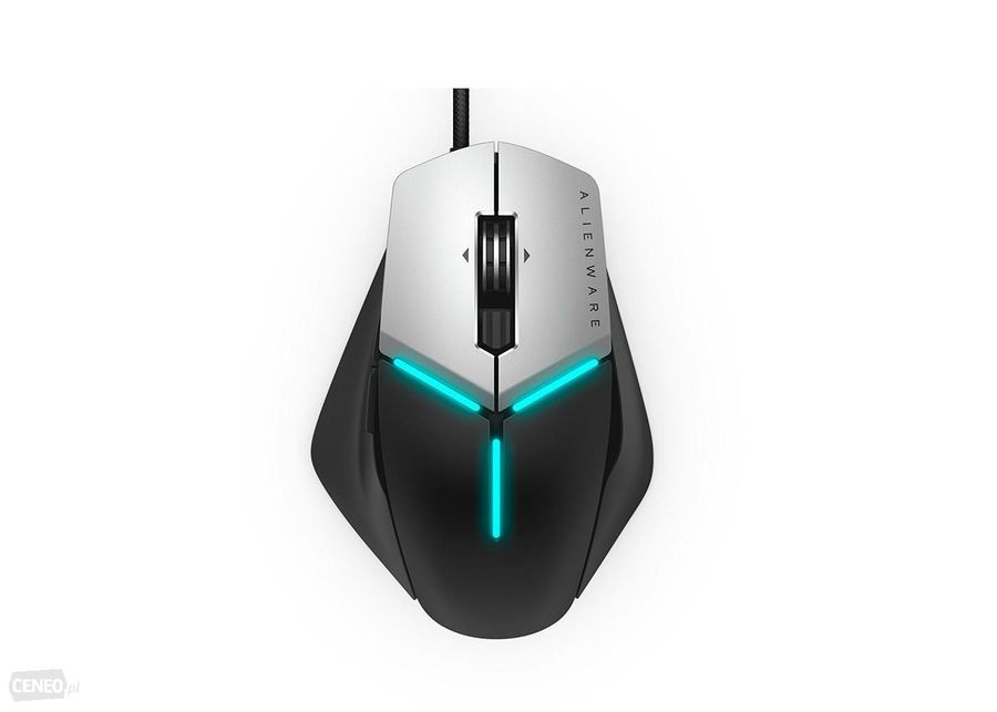 Мышь DELL AW958 Alienware Elite Gaming оптическая проводная USB, серый и черный [570-aarg]