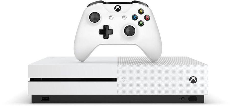 Игровая консоль MICROSOFT Xbox One S с 1 ТБ памяти, игрой Assassin`s Creed Origins,  234-00236, белый
