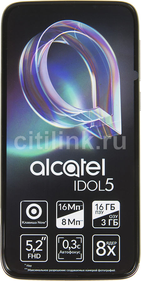 Смартфон ALCATEL Idol 5 6058D,  серебристый