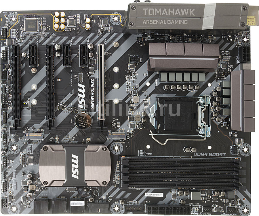 Материнская плата MSI Z370 TOMAHAWK, LGA 1151v2, Intel Z370, ATX, Ret