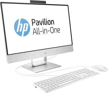 Моноблок HP Pavilion 24-x004ur, Intel Core i5 7400T, 8Гб, 1000Гб, Intel HD Graphics 630, Free DOS 2.0, белый [2mj55ea]
