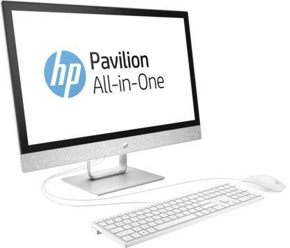 Моноблок HP Pavilion 24-r013ur, Intel Core i3 7100T, 8Гб, 1000Гб, AMD Radeon 530 - 2048 Мб, DVD-RW, Windows 10, белый [2mj42ea]