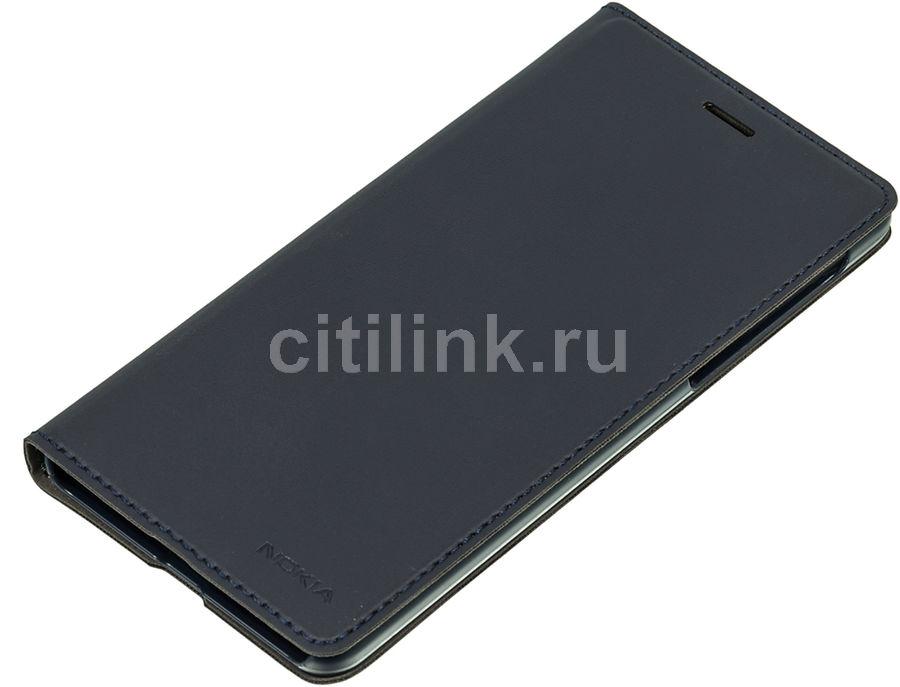 Чехол (флип-кейс) NOKIA Slim Flip, для Nokia 5, синий [1a21m1s00va]
