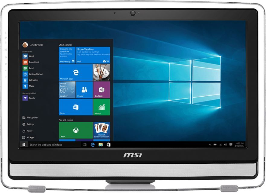 Моноблок MSI Pro 22E 6NC-024RU, Intel Core i3 6100, 4Гб, 1000Гб, NVIDIA GeForce 930M - 2048 Мб, DVD-RW, Windows 10, черный [9s6-ac1711-036]
