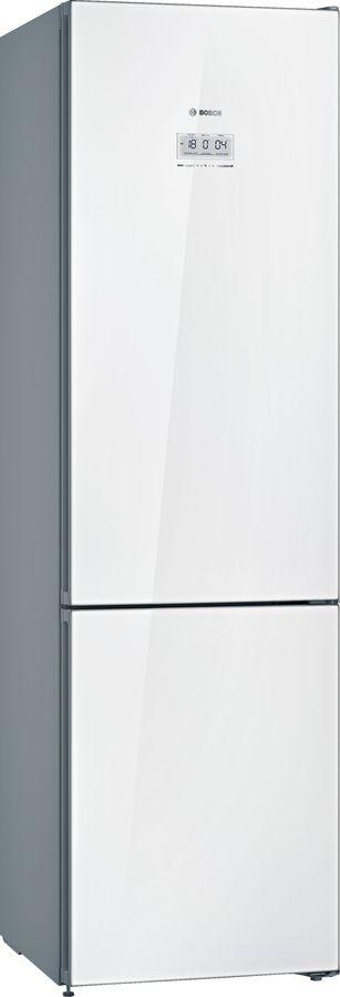Холодильник BOSCH KGN39JW3AR,  двухкамерный,  белое стекло