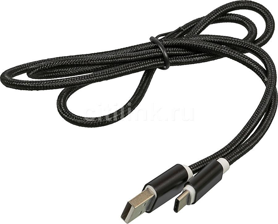 Кабель REDLINE USB Type-C (m),  USB A(m),  1м,  черный [ут000012585]