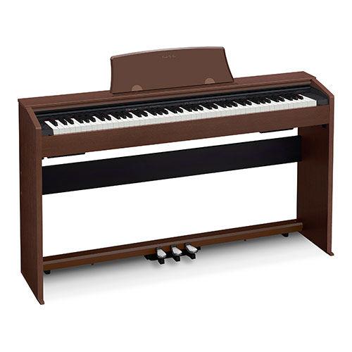 Цифровое фортепиано PRIVIA CASIO PX-770BN, 88, полновзвешенная, полноразмерные, 128, коричневый