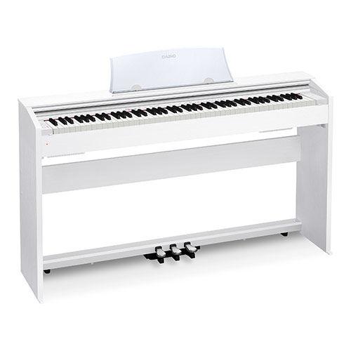 Цифровое фортепиано PRIVIA CASIO PX-770WE, 88, полновзвешенная, полноразмерные, 128, белый