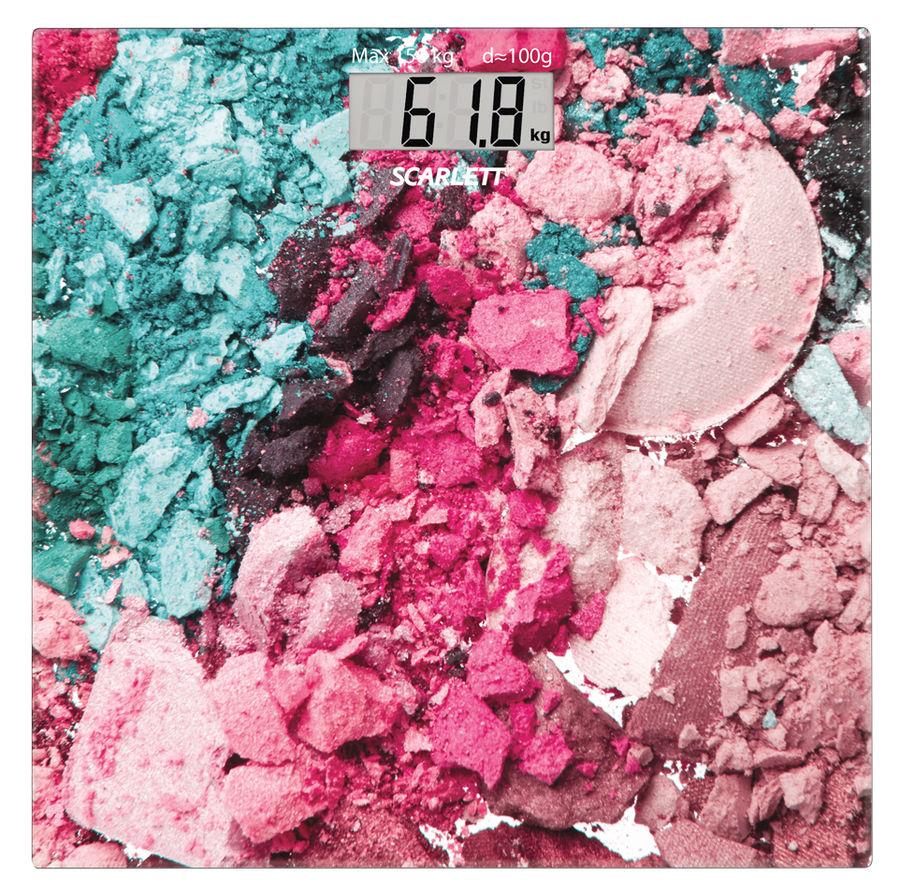 Напольные весы SCARLETT SC-BS33E087, до 150кг, цвет: розовый/рисунок [sc - bs33e087]
