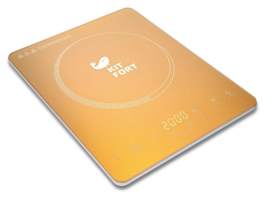 Электрическая плита KITFORT КТ-110-1,  стеклокерамика,  индукционная,  золотистый