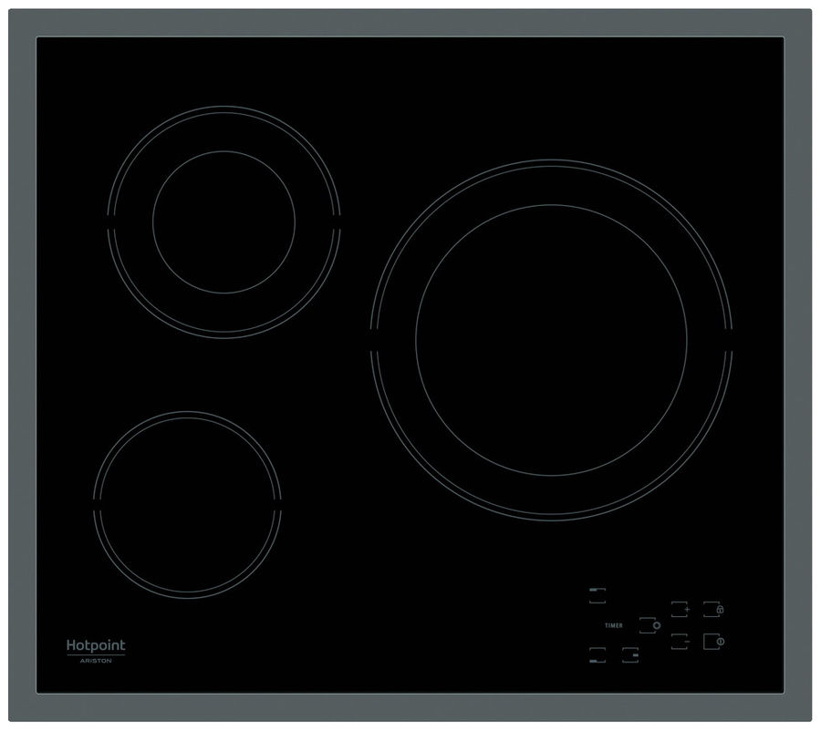 Варочная панель HOTPOINT-ARISTON HR 603 X,  Hi-Light,  независимая,  черный