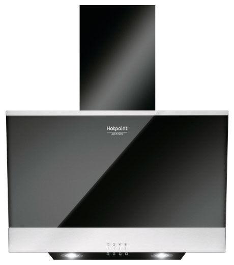 Вытяжка каминная Hotpoint-Ariston HHVP 6.6F LM K черный/нержавеющая сталь управление: кнопочное (1 м