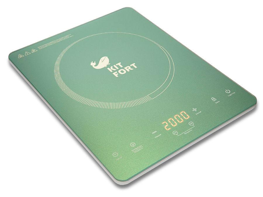 Плита Электрическая Kitfort КТ-110-3 бирюзовый стеклокерамика (настольная)