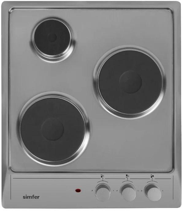 Варочная панель SIMFER H45E03M011,  электрическая,  независимая,  серебристый