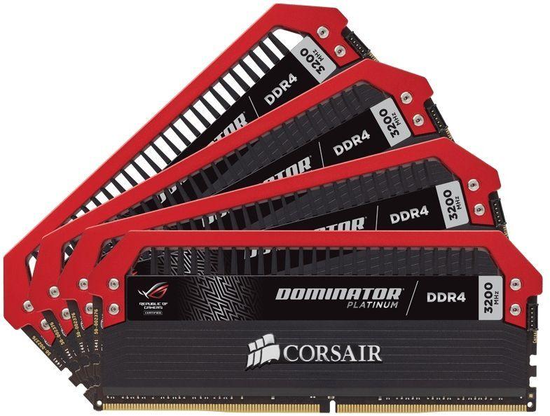 Модуль памяти CORSAIR DOMINATOR PLATINUM ROG CMD32GX4M4C3200C16 DDR4 -  4x 8Гб 3200, DIMM,  Ret