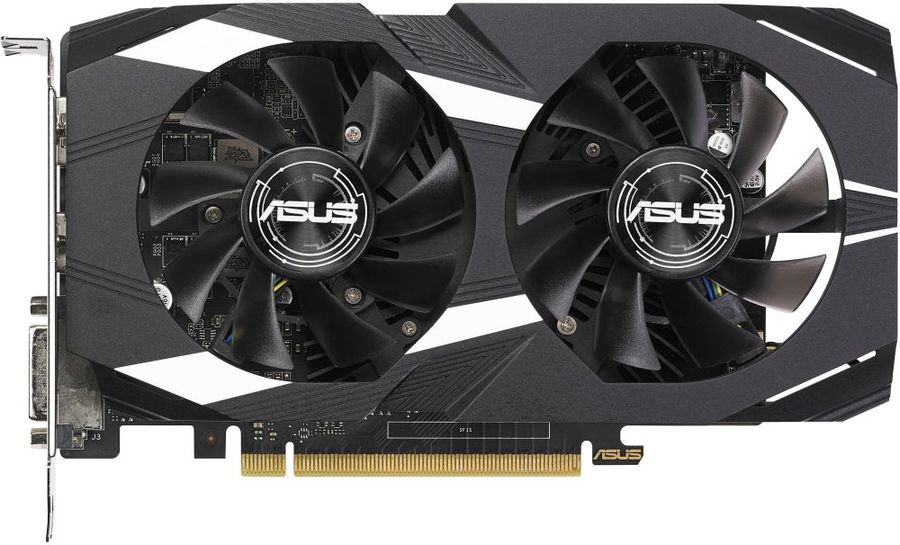 Видеокарта ASUS nVidia  GeForce GTX 1050TI ,  DUAL-GTX1050TI-O4G-V2,  4Гб, GDDR5, Ret