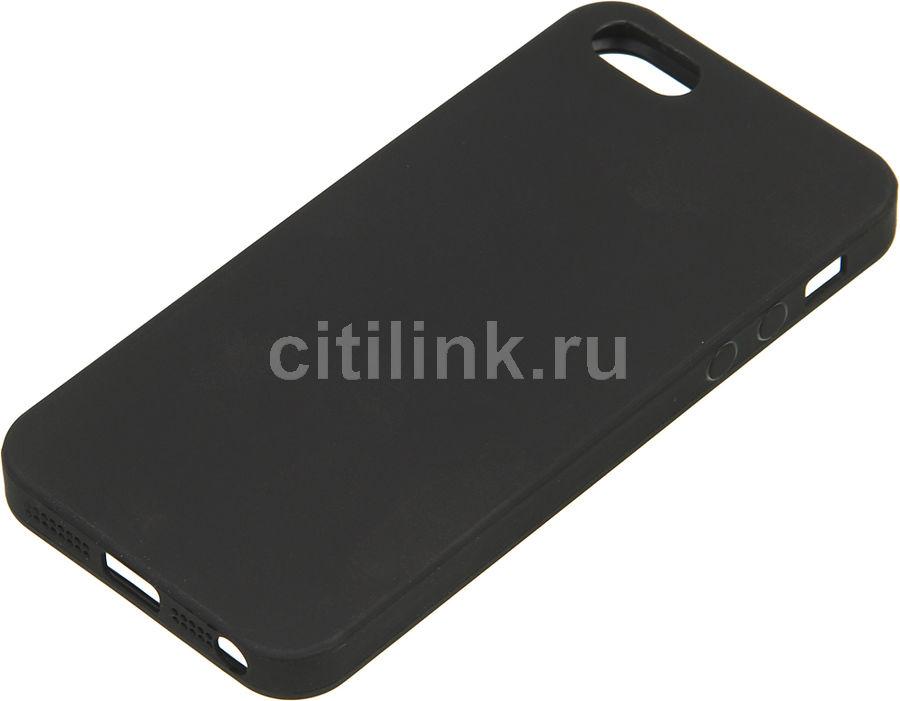 Чехол (клип-кейс) DEPPA Anycase, для Apple iPhone 5/5s/SE, черный [140019]