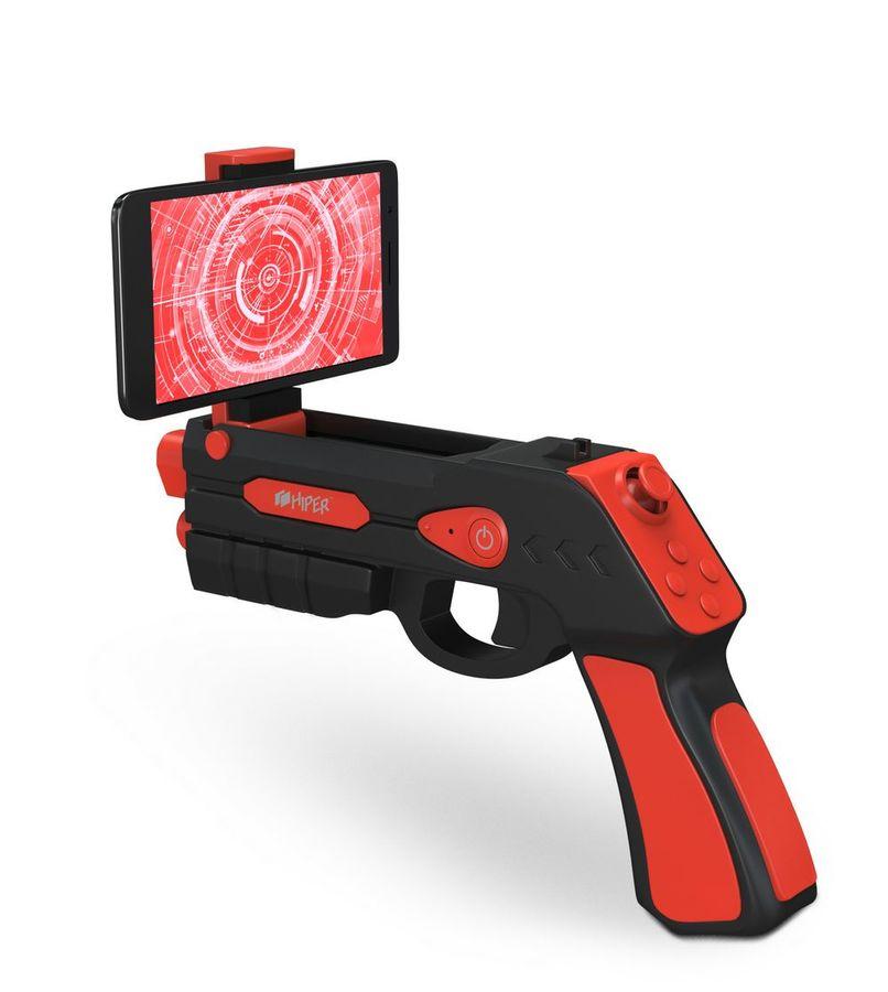 Пистолет виртуальной реальности HIPER VR ARGUN501,  черный/красный