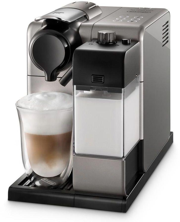 Капсульная кофеварка DELONGHI Lattissima Touch EN550.S, 1400Вт, цвет: серебристый [0132193211]