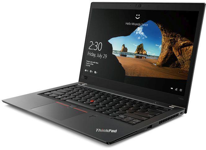 """Ноутбук LENOVO ThinkPad T480s, 14"""",  IPS, Intel  Core i7  8550U 1.8ГГц, 8Гб, 512Гб SSD,  Intel UHD Graphics  620, Windows 10 Professional, 20L7001MRT,  черный"""