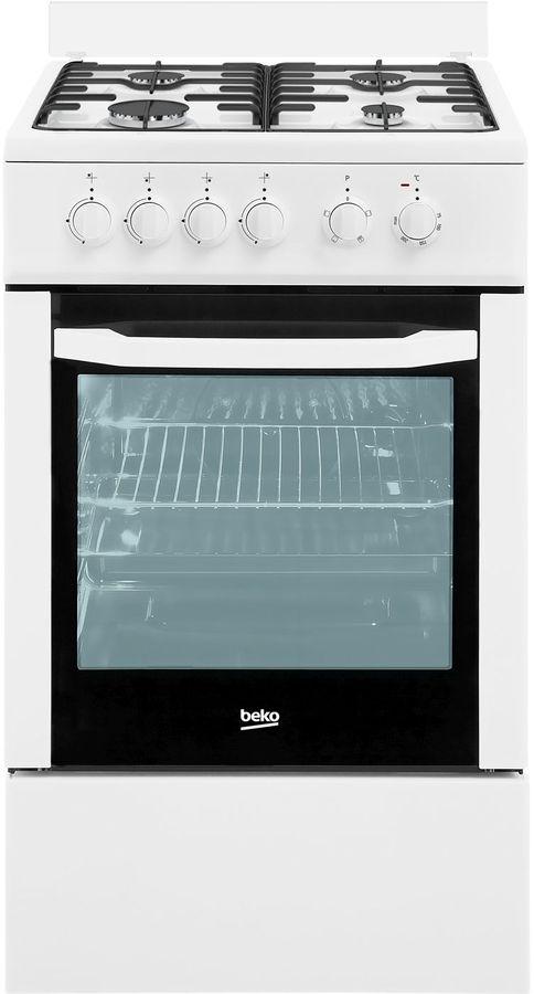 Газовая плита BEKO FFSS52000W,  электрическая духовка,  белый