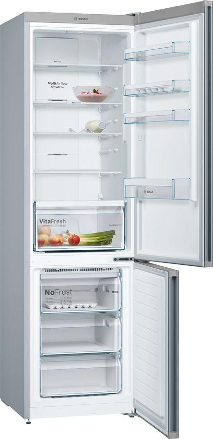 Холодильник BOSCH KGN39VT21R,  двухкамерный, титан