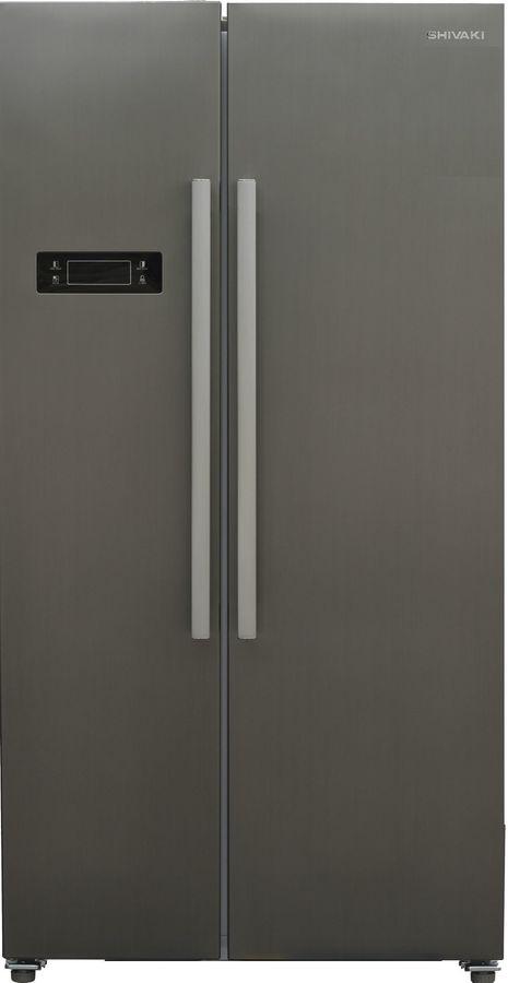 Холодильник SHIVAKI SBS-530DNFX,  двухкамерный, нержавеющая сталь