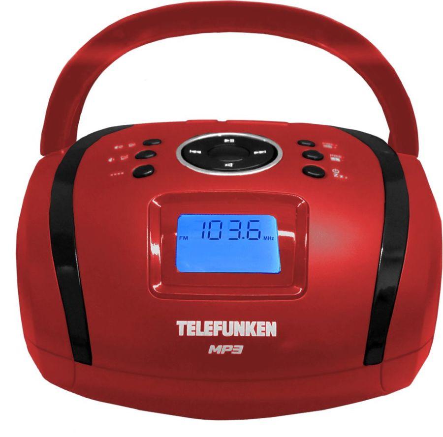 Аудиомагнитола TELEFUNKEN TF-SRP3449,  красный