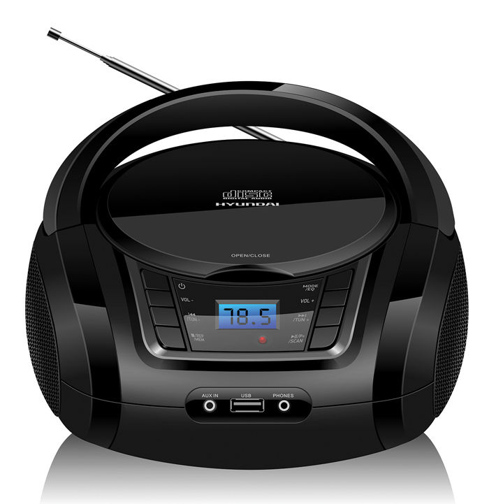 Аудиомагнитола HYUNDAI H-PCD320,  черный