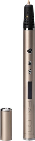 Ручка 3D Krez Falco P3D14 PLA ABS LCD золотистый