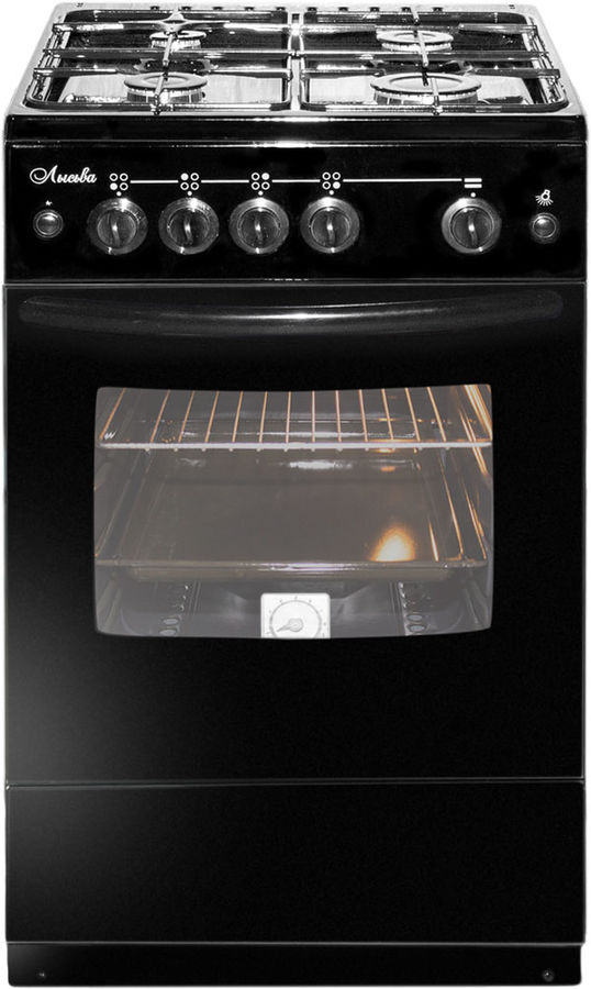 Газовая плита ЛЫСЬВА ГП 400 М2С-2у,  газовая духовка,  черный