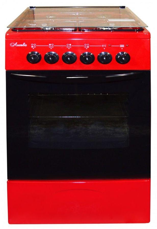 Газовая плита ЛЫСЬВА ЭГ 401 МС-2у,  электрическая духовка,  вишневый