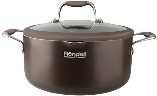 Кастрюля RONDELL Mocaccino 0554-RD-01, 3.2л, с крышкой,  коричневый