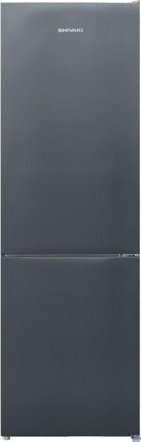 Холодильник SHIVAKI BMR-1851NFX,  двухкамерный, нержавеющая сталь