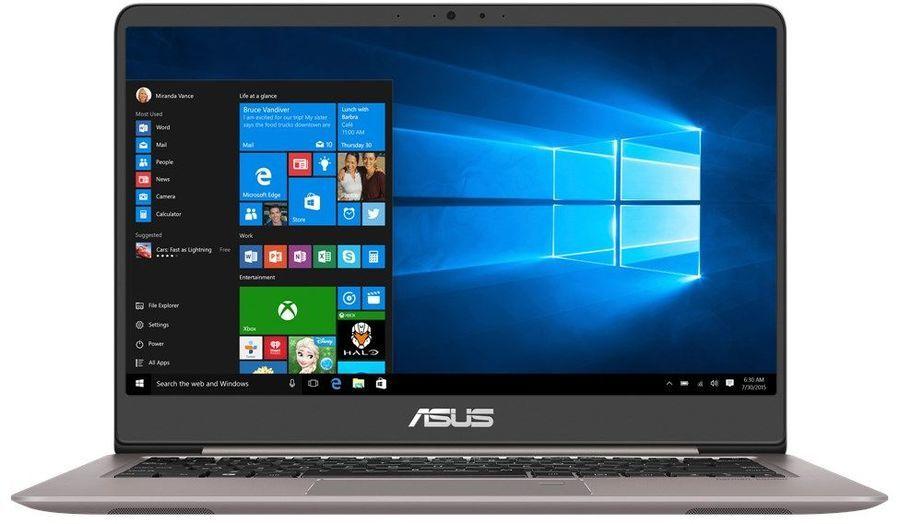 """Ноутбук ASUS Zenbook RX410UF-GV195R, 14"""",  Intel  Core i5  8250U 1.6ГГц, 8Гб, 1000Гб,  256Гб SSD,  nVidia GeForce  Mx130 - 2048 Мб, Windows 10 Professional, 90NB0HZ1-M04240,  серый"""
