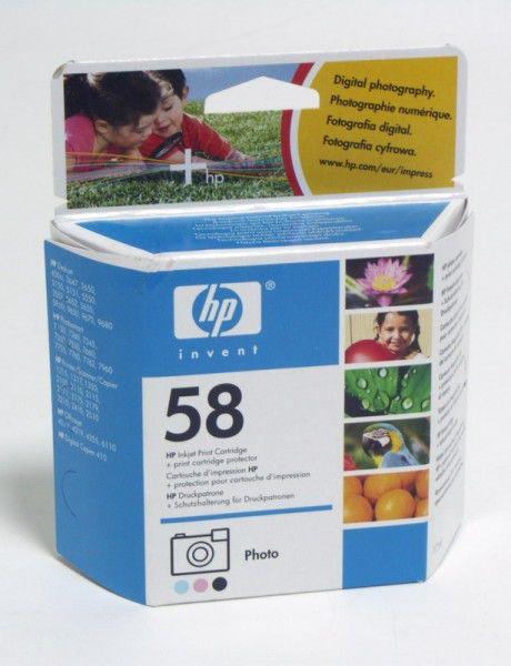 Картридж HP 58 многоцветный [c6658ae]