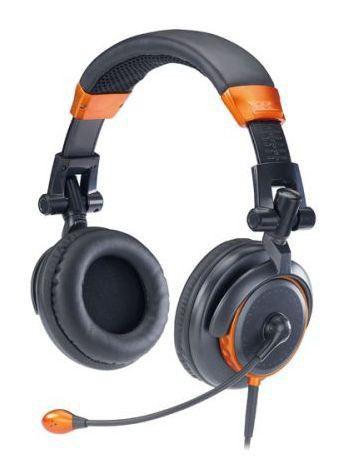 Наушники с микрофоном GENIUS HS-530F,  31710048101,  мониторы, оранжевый  / черный