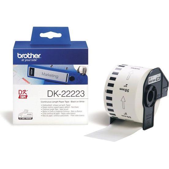 Лента клеящаяся Brother DK11201 50mm 30.5m white (5pcs in roll) [dk22223]