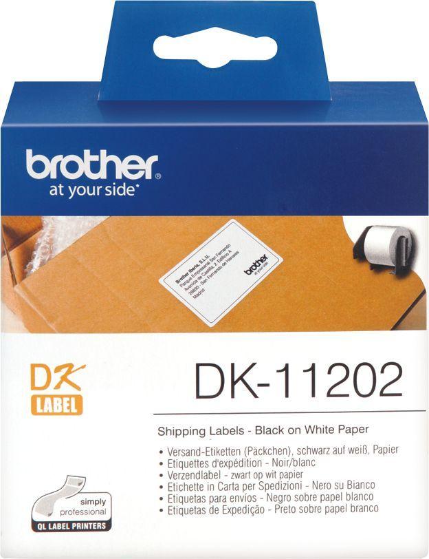 Наклейки Brother DK11202 62x100mm 300psc in roll