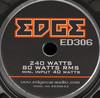 Колонки автомобильные EDGE ED306-E2,  компонентные,  240Вт вид 4