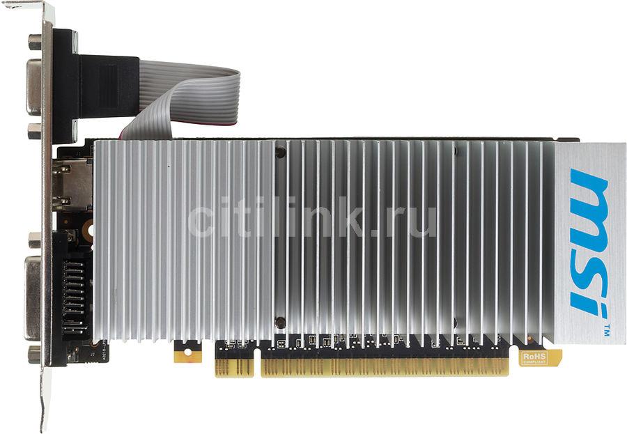 Видеокарта MSI GeForce 210,  N210-TC1GD3H/LP BULK,  512Мб, DDR3, Low Profile,  bulk