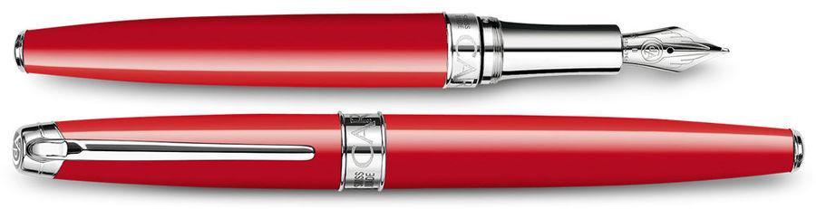 Ручка перьевая Carandache Leman (4799.760) Scarlet red lacquered SP F золото 18K подар.кор.